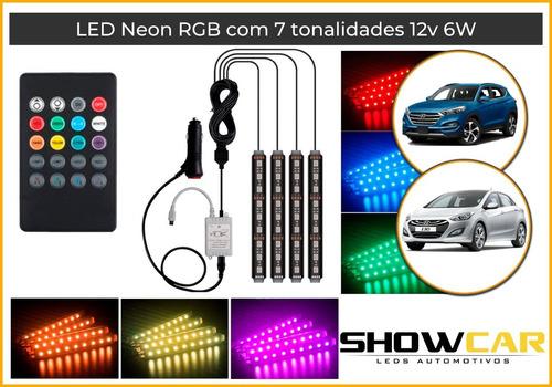 Luz Led Neon Cores Ambiente Interno Automotivo Tuning
