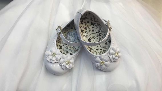 Sapatilha Branca Infantil Batizado Daminha Casamento Festa