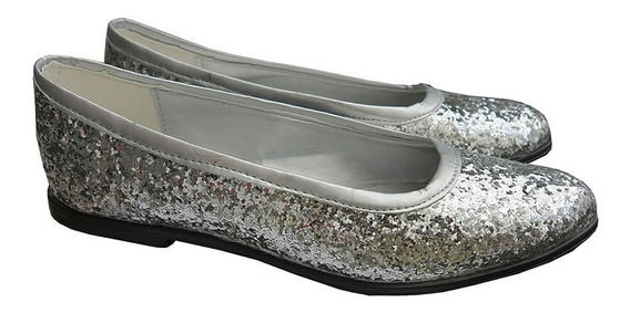 Promo 2x1 Zapatos Chatitas D Brillos Glitters Talles Grandes