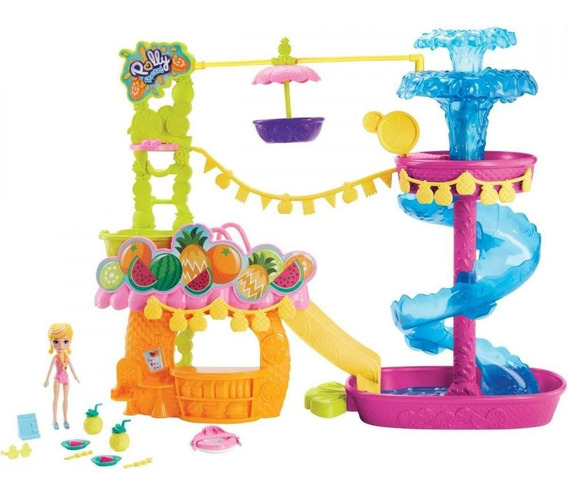Playset Parque Aquático Do Abacaxi Polly Pocket Gfr02 Mattel