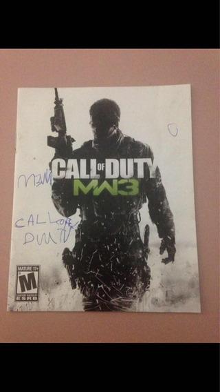 Call Of Duty Mw3 Ps3 Só O Manual Original R$24,99