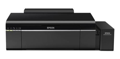Impressora a cor Epson EcoTank L805 com wifi preta 110V