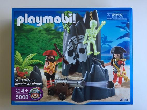 Playmobil 5808 Esconderijo Piratas Com Canhão Pirates Geobra