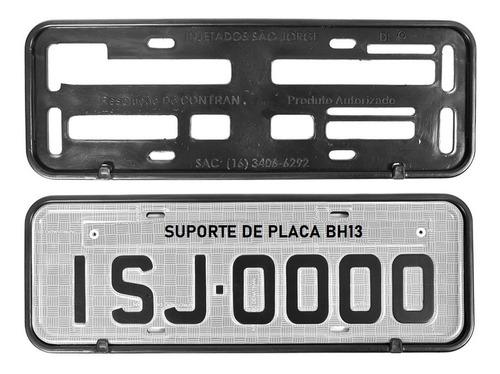 Moldura Protetora Suporte Placa Carro Caminhão Kit 10 Pares