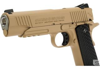 Pistola Colt 1911 Swiss Arms + 5 Co2 +500 Balines De Metal