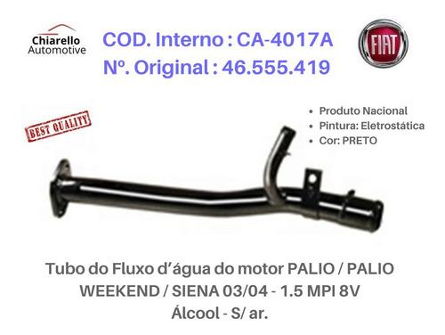 Tubo Dágua Palio Wekkend Siena 03/04 1.5 Mpi 8v Álcool