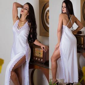 1533c78e7 Camisolas Longas Brancas - Lingerie no Mercado Livre Brasil