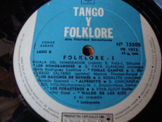 Sin Tapa Disco Tango Y Folclore Eduardo Falu