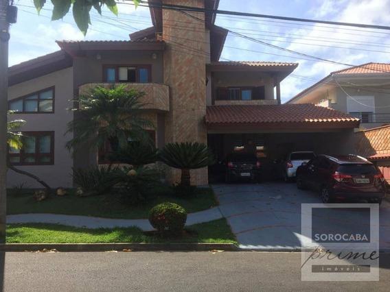 Sobrado Com 4 Dormitórios À Venda, 412 M² Por R$ 1.600.000 - Condomínio Granja Olga Ii - Sorocaba/sp. - So0119