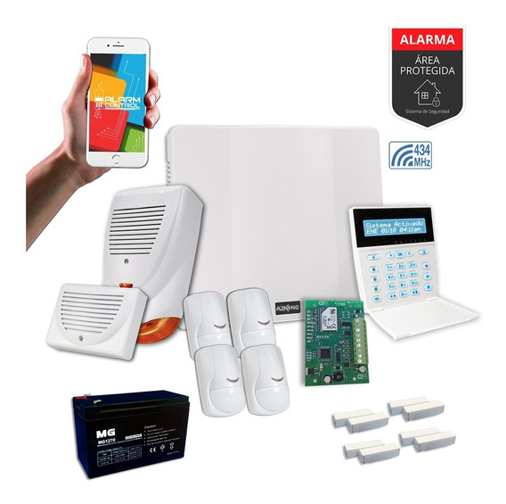 Alarma Para Casa+ Wifi+sensor+magnetico+ Kit - Cableado