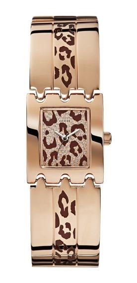 Relógio Feminino Guess 92537lpglra1 Onça Aço Rosê