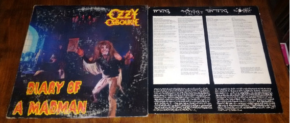 Ozzy Osbourne Diary Of A Madman Lp Vinilo Disco Usa Insert