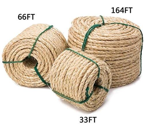 Imagen 1 de 5 de Yangbaga Cuerda De Sisal Para Gatos, Repuesto De Cuerda De S