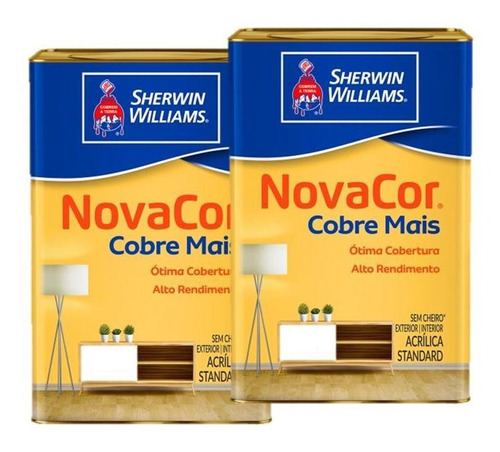 Imagen 1 de 4 de Pinturas Sherwin Williams Novacor Cubre Mas Blanco 36 Litros