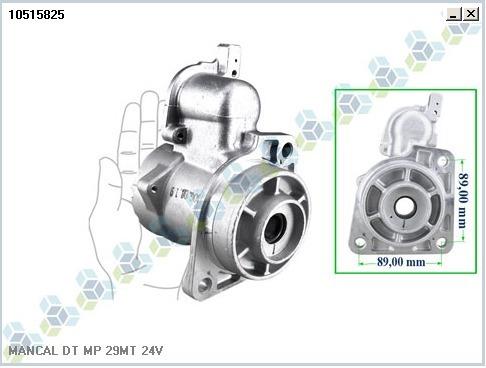Mancal Motor Partida Admissao Mercedes 29 Mt 24v 10515825