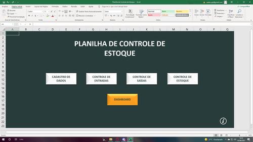 Imagem 1 de 8 de Planilha De Controle De Estoque No Excel