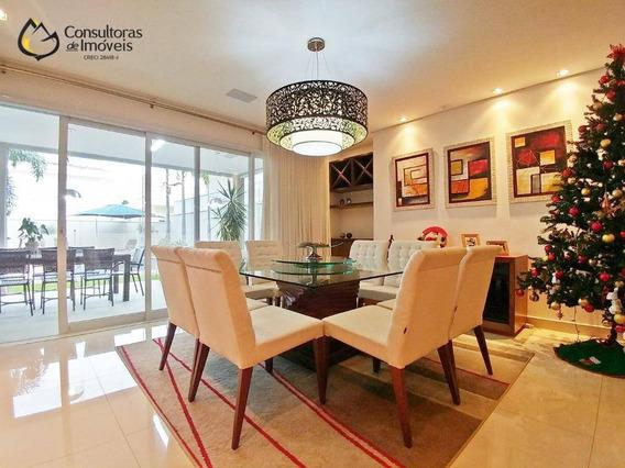 Casa Com 4 Dormitórios À Venda, 370 M² Por R$ 1.900.000,00 - Residencial Villa Lobos - Paulínia/sp - Ca1178