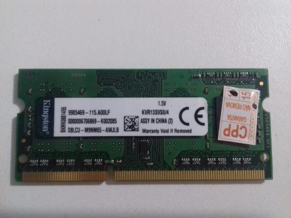 Memoria Ddr3 Pc3 10600 1333mhz 1x4gb 1rx8 Kingston Notebook