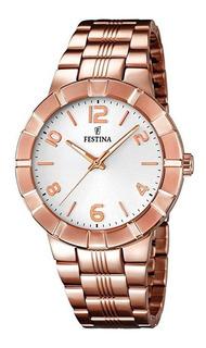Reloj Festina Mujer Acero Clásico Cobre F16714.1