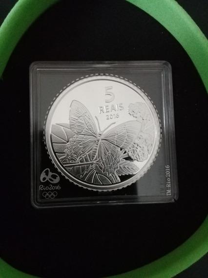 Brasil-moeda De Prata Comemorativa- Olimpiadas - Borboleta