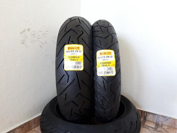 Pneu Pirelli Scorpion Trail 2 120/70-17 + 160/60-17 Cb500 Nc
