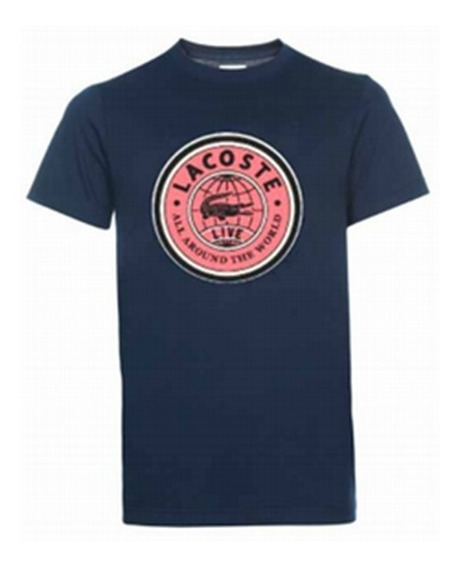 Remera Lacoste ¡oferta! T-shirt Jersey Graphic Azul Qrn