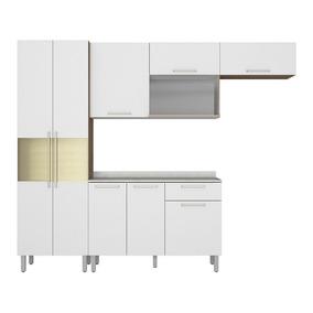 Cozinha Compacta 4 Peças Com Balcão Star Aveiro Branco - Ita