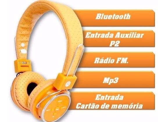 Fone Ouvido B05 Sem Fio Bluetooth Sd Card Fm Slim Led Envio