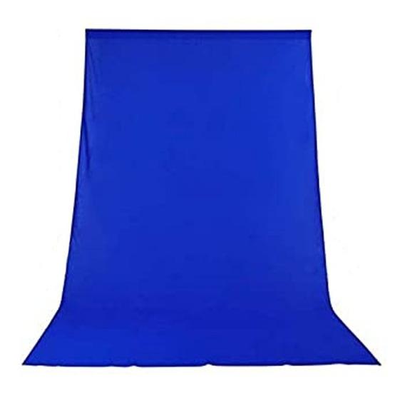 1 Tecido 3x4 Azul Fundo Infinito Estúdio Fotográfico Youtuber Foto Chroma Key Igreja Ringligth Escola