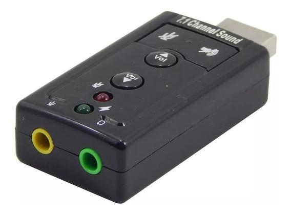 Adaptador De Som Usb Externa 7.1 Virtual Channel Sound