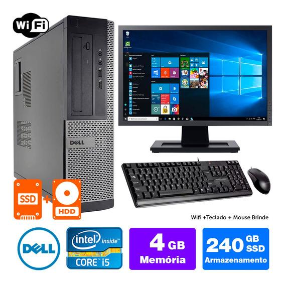 Computador Usado Dell Optiplex Int I5 2g 4gb Ssd240+1tb M17w