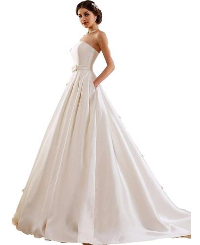 Vestido De Novia Princesa Nuevo Ivory  Y Blanco Con Bolsillo