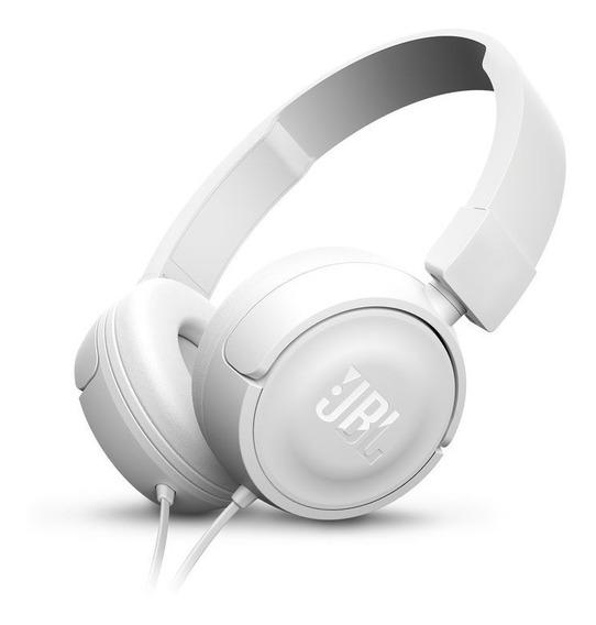Fone De Ouvido Headphone Jbl T450 Novo T500 Branco Com Fio