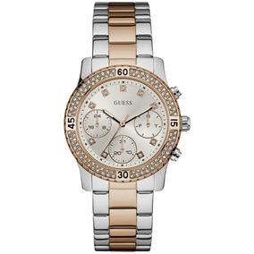 Relógio Feminino Guess 92595lpgsga6 Original Prata E Dourado