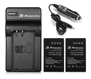 Bateria Y Cargador Powerextra 2x (con Cargador De Coche) Par