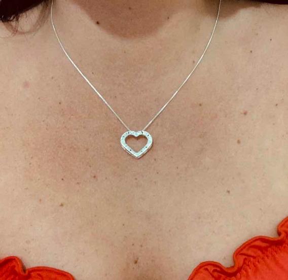 Corrente Coração Amor-amor Em Prata925