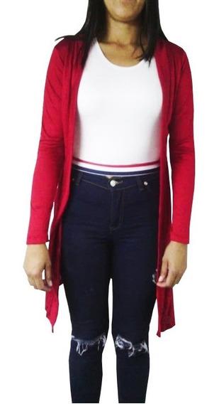 Sweater, Chaleco Largo Manga Larga Algodon Expandes D Moda
