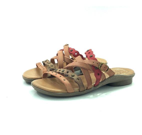 Sandalia Mujer Cuero Chocolate 37313 El Mercado De Zapatos!