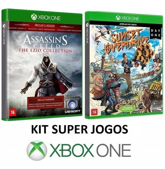 3 Jogos Assassins Creed + Sunset Overdrive - Xbox One