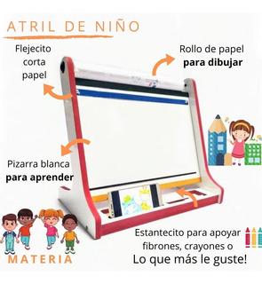 Atril Kids De Mesa Infantil Con Rollo De Papel