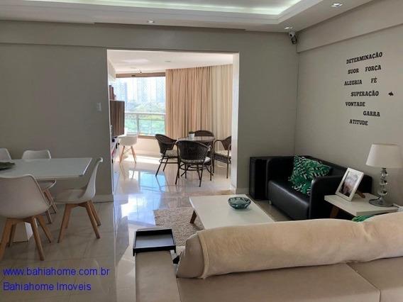 Apartamento Nascente Com Vista Mar Para Vender Em Patamares Com153m², 3 Suítes - Salvador Ba - Ap00898lt
