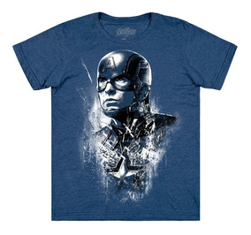 Playera Capt Steve Rogers Mascara De Latex Avengers Endgame