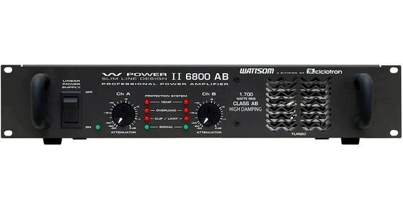 Amplificador Ciclotron De Potencia Wp6800 4 Ohms -mostruário