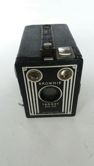 Antiga Máquina Fotográfica Brownie Target Six 20 By Kodak