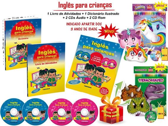 Coleção Aprendendo Inglês Atividades P/ Crianças + Brinde