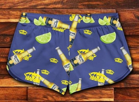 Short Feminino Moda Praia Patricinha Bebidas Ref 05