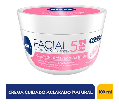Crema Facial Nivea Cuidado Aclarado Natural 5 En 1 X 100ml