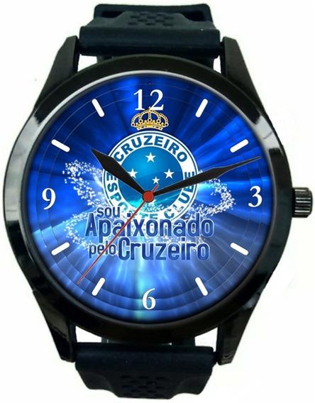 Relógio Pulso Esportivo Cruzeiro Barato Masculino Promoção