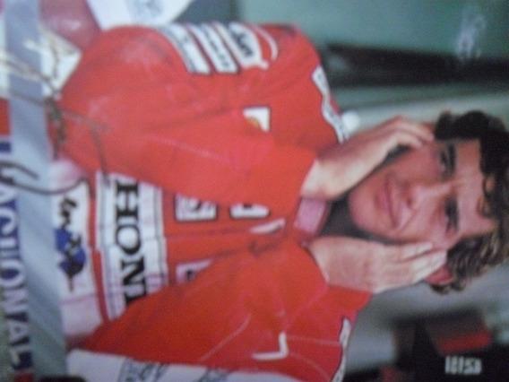 F1 Ayrton Senna Completo Álbum 120 Cards Assinaturas Em Ouro