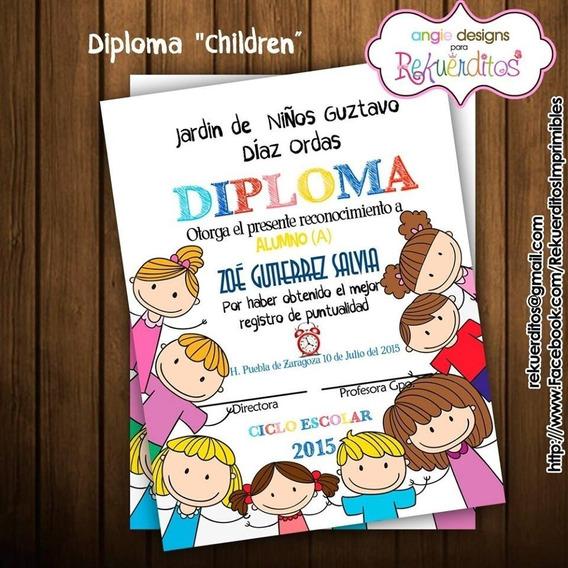 Kit Imprimible Diplomas Egresados Jardin Infantil Kdkt0184